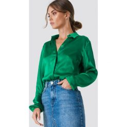 Rut&Circle Koszula Mella - Green. Zielone koszule damskie Rut&Circle, z tkaniny, z krótkim rękawem. Za 161,95 zł.