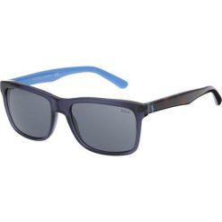 Polo Ralph Lauren Okulary przeciwsłoneczne blue/black. Niebieskie okulary przeciwsłoneczne męskie aviatory Polo Ralph Lauren. Za 509,00 zł.