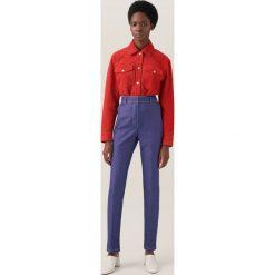 Spodnie z wysokim stanem: Spodnie z wysokim stanem redesign – Niebieski
