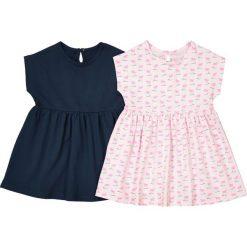 Sukienka z krótkim rękawem, dżersejowa, 1 mies. - 3 lata, pakiet 2 szt. Czerwone sukienki dziewczęce marki La Redoute Collections, z bawełny, z krótkim rękawem, krótkie, mini. Za 70,52 zł.