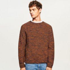 Sweter z raglanowym rękawem - Bordowy. Czerwone swetry klasyczne męskie Reserved, m. Za 99,99 zł.