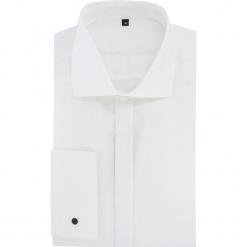 Koszula RICCARDO 15-12-01. Białe koszule męskie na spinki Giacomo Conti, m, z bawełny, z klasycznym kołnierzykiem, z długim rękawem. Za 299,00 zł.