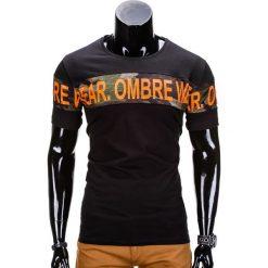 T-SHIRT MĘSKI Z NADRUKIEM S842 - CZARNY. Czarne t-shirty męskie z nadrukiem Ombre Clothing, m. Za 29,00 zł.