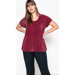 T-shirty damskie: T-shirt plisowany z krótkim rękawem