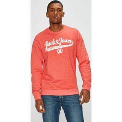 Jack & Jones - Bluza. Różowe bejsbolówki męskie Jack & Jones, l, z nadrukiem, z bawełny, bez kaptura. W wyprzedaży za 79,90 zł.