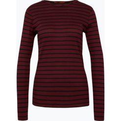 BOSS Casual - Damska koszulka z długim rękawem - Tafi, czerwony. Czerwone t-shirty damskie BOSS Casual, xl, w prążki. Za 329,95 zł.
