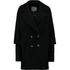 Minimum Płaszcz wełniany /Płaszcz klasyczny black. Czarne płaszcze damskie pastelowe Minimum, z materiału, klasyczne. W wyprzedaży za 461,45 zł.