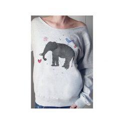 Słoń akwarele szara bluza z. Szare bluzy z nadrukiem damskie One mug a day, s, z bawełny. Za 129,00 zł.