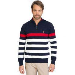Sir Raymond Tailor Sweter Męski M Wielokolorowy. Czarne swetry klasyczne męskie Sir Raymond Tailor, m, w paski. Za 229,00 zł.