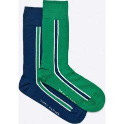 Tommy Hilfiger - Skarpety (2-pack). Zielone skarpetki męskie marki TOMMY HILFIGER, z bawełny. W wyprzedaży za 34,90 zł.