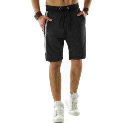 Spodenki i szorty męskie: Krótkie spodenki dresowe męskie antracytowe (sx0308)