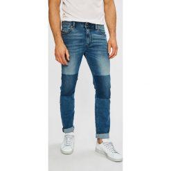 Diesel - Jeansy Thommer. Niebieskie jeansy męskie slim Diesel, z bawełny. W wyprzedaży za 499,90 zł.