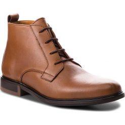 Buty zimowe męskie: Kozaki TOMMY HILFIGER - Color Block Heel Leather Boot FM0FM01602 Cognac 606