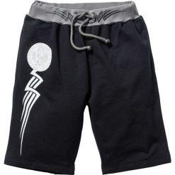 Spodnie dresowe męskie: Bermudy dresowe bonprix czarny