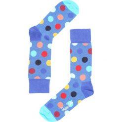 Skarpetki damskie: Niebieskie Skarpetki Big Dot Happy Socks