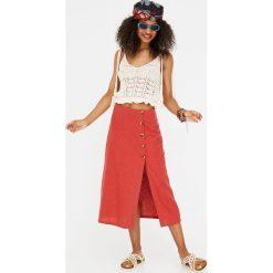 Spódniczki: Spódnica midi z guzikami z boku