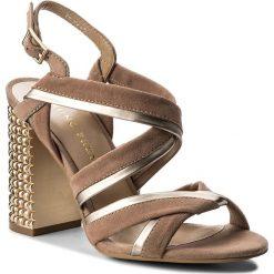 Sandały damskie: Sandały BRUNO PREMI – Camosico+Specchio+Tacco R3000X Nude/Rame/Platino