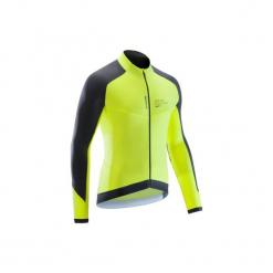 Koszulka długi rękaw na rower szosowy ROADCYCLING 900 męska. Żółte odzież rowerowa męska marki KIPSTA, m, z elastanu, z długim rękawem, na fitness i siłownię. Za 129,99 zł.