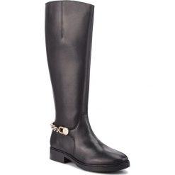 Buty zimowe damskie: Oficerki TOMMY HILFIGER - Chain Long Boot L FW0FW03312  Black 990