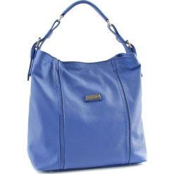 Torebki klasyczne damskie: Skórzana torebka w kolorze niebieskim – (S)42 x (W)34 x (G)13 cm
