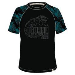 IGUANA Koszulka Męska Baako Black/Shaded Spruce Print/Logo Print r. L. Brązowe koszulki sportowe męskie marki IGUANA, s. Za 39,69 zł.