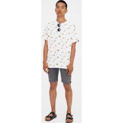 Spodenki i szorty męskie: Szare jeansowe bermudy regular comfort