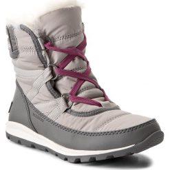 Śniegowce SOREL - Whitney Short Lace NL2776 Quarry 052. Szare śniegowce damskie Sorel, z gumy. W wyprzedaży za 319,00 zł.