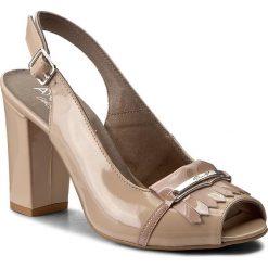 Rzymianki damskie: Sandały ANN MEX – 7989 03LS+03LR Beż