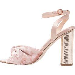 Rzymianki damskie: Office NATURAL  Sandały na obcasie pink