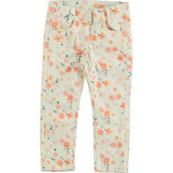 Spodnie niemowlęce: Spodnie w kolorze kremowym ze wzorem
