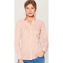 Klasyczna koszula z długimi rękawami - Pomarańczo. Czerwone koszule damskie marki Mohito, z bawełny. Za 79,99 zł.