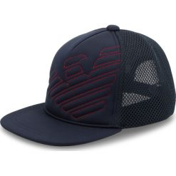 Czapka z daszkiem EMPORIO ARMANI - 404569 8A526 00236 Dark Blue. Szare czapki z daszkiem męskie marki Emporio Armani, l, z nadrukiem, z bawełny, z okrągłym kołnierzem. Za 269,00 zł.