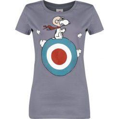 Fistaszki Snoopy - Target Koszulka damska jasnofioletowy (Lilac). Fioletowe bluzki z odkrytymi ramionami Fistaszki, xs, z nadrukiem, z okrągłym kołnierzem. Za 74,90 zł.
