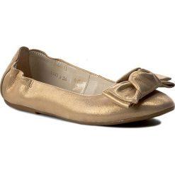 Baleriny BALDACCINI - 948500-F Satynka Złota. Żółte baleriny damskie Baldaccini, z nubiku. W wyprzedaży za 169,00 zł.