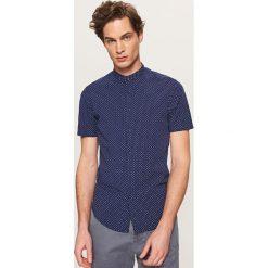 Koszula super slim fit - Granatowy. Niebieskie koszule męskie slim marki Reserved, l. Za 69,99 zł.