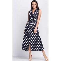 Sukienki: Granatowa Sukienka Collier