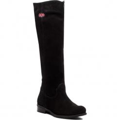 Oficerki ROBERTO - 632 Czarny Welur. Czarne buty zimowe damskie Roberto, ze skóry, na obcasie. Za 339,00 zł.