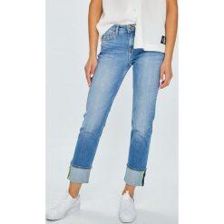 Tommy Hilfiger - Jeansy Rome. Niebieskie proste jeansy damskie TOMMY HILFIGER. W wyprzedaży za 429,90 zł.