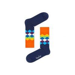 Skarpetki Happy Socks  FAD01-6001. Szare skarpetki męskie Happy Socks, z bawełny. Za 24,43 zł.