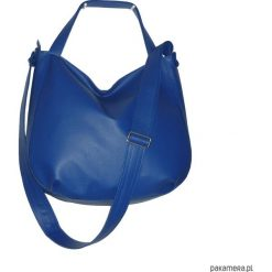 Granatowa torba 3w1, granatowa torebka worek. Niebieskie torebki worki Pakamera, matowe. Za 130,00 zł.