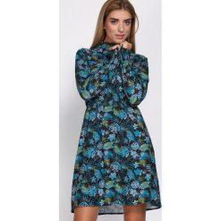 Czarno-Niebieska Sukienka Love The Limit. Czarne sukienki marki Born2be, l, z koszulowym kołnierzykiem, koszulowe. Za 119,99 zł.