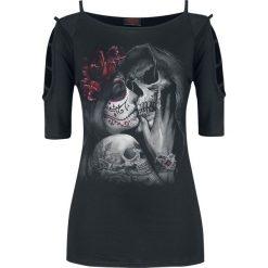 Bluzki asymetryczne: Spiral Dead Kiss Koszulka damska czarny