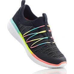 Buty sportowe wsuwane Skechers z pianką Memory bonprix czarno-kolorowy. Czarne buty sportowe damskie bonprix, w kolorowe wzory. Za 239,99 zł.