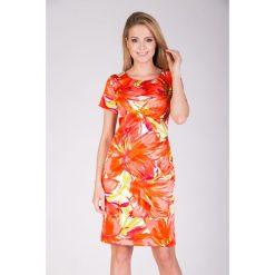 Sukienki: Sukienka pomarańczowa prosta QUIOSQUE