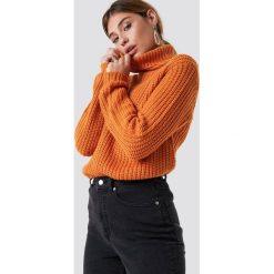 Swetry damskie: Rut&Circle Dzianinowy golf Tinelle - Orange