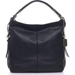 Torebki klasyczne damskie: Skórzana torebka w kolorze czarnym – 36 x 39 x 16 cm