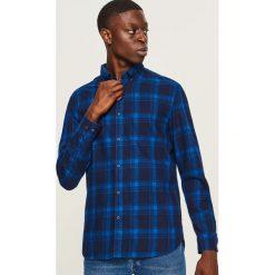 Koszula w kratę regular fit - Granatowy. Niebieskie koszule męskie marki Reserved. Za 99,99 zł.