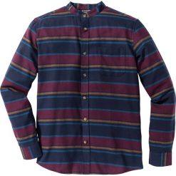 Koszule męskie na spinki: Koszula flanelowa z długim rękawem Slim Fit bonprix w kolorowe paski