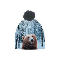 Czapka hauer BEAR. Czarne czapki zimowe męskie marki Hauer, z nadrukiem, z polaru. Za 69,00 zł.