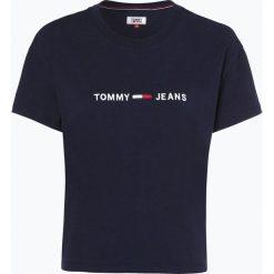 Tommy Jeans - T-shirt damski, niebieski. Niebieskie t-shirty damskie Tommy Jeans, s, z haftami, z jeansu. Za 139,95 zł.